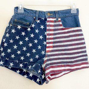 Amercian Apparel l Red/White/Blue Jean Shorts